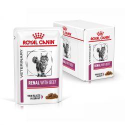 Royal Canin Veterinary Diet Cat Renal Boeuf en sauce   12 x 85g