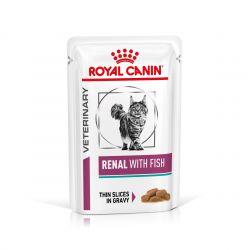 Royal Canin Veterinary Diet Cat Renal Poisson en sauce - 12 x 85 g