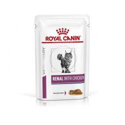 Royal Canin Veterinary Diet Cat Renal Poulet en sauce   12 x 85 g