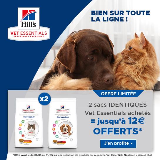 Hill's Vet Essentials 12€ Offert